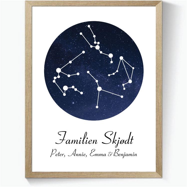 Stjernetegns Familie/Veninde plakat - Design selv ...